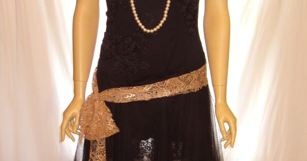 and lace thin strap Great Gatsby dress costume, women's flapper ...