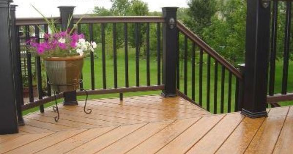 Tan brown and black two tone decks pinterest decks for Balcony colour combination