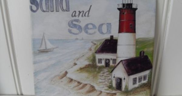 Lighthouse Bathroom Decor: Details About LIGHTHOUSE DESIGN METAL WALL PLAQUE SEASHORE