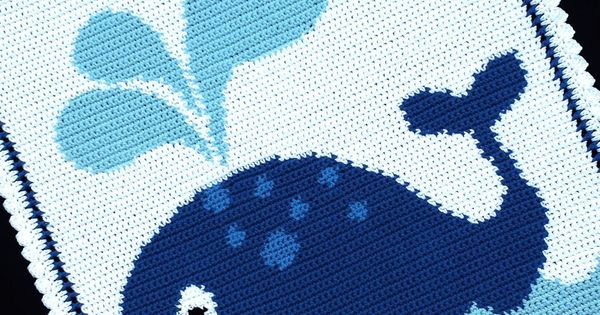 Free Crochet Whale Baby Blanket Pattern : Crochet Patterns - WHALE Graph/Chart Afghan Pattern ...