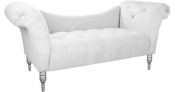 Button tufted chaise with a pine wood frame and foam for Button tufted chaise settee