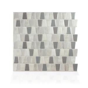 Smart Tiles Cavalis Tenero Taupe 10 36 In W X 9 48 In H Peel And