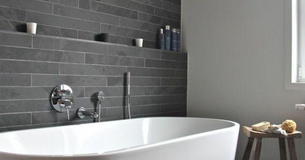 badezimmer gestalten akzentwand mit fliesen bathroom pinterest badezimmer gestalten. Black Bedroom Furniture Sets. Home Design Ideas
