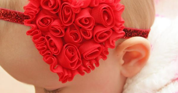 Valentine's Bow - Baby Girl - Baby Girl Headband - Valentine's Headband