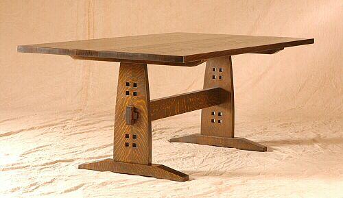 Limbert Trestle Table Craftsman Style Furniture Mission Style