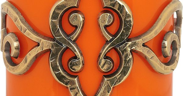 EMILIO PUCCI Orange plexiglass cuff