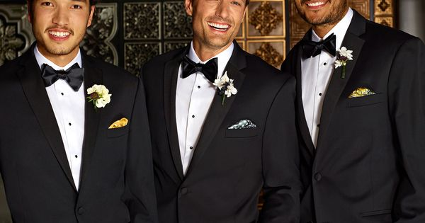 For a touch of color, add unique pocket squares to your tux pocket. #menswearhouse #weddings #tuxedos