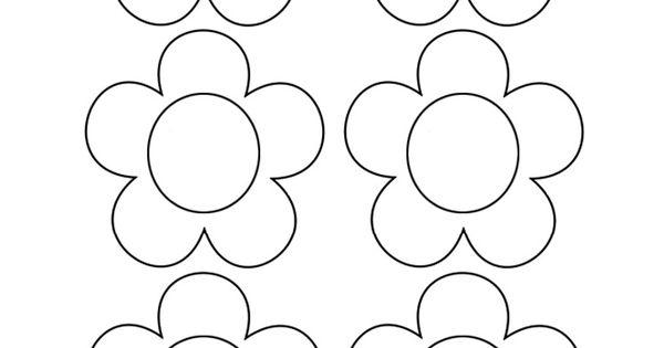 Dibujos De Flores Para Recortar Y Colorear: Flores Para Colorear Y Recortar