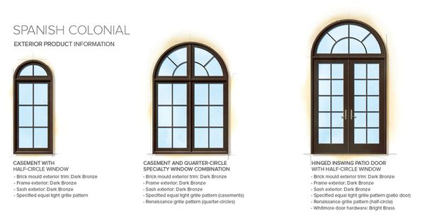 Spanish colonial home style exterior window door details for Colonial windows and doors