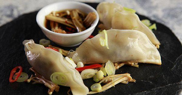 Mushroom gyoza | DINE | Pinterest | Mushrooms, Dumplings and Oysters