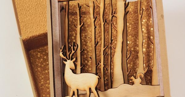 Multi Level Shadow Box Laser Cut Engraved Art Made Of Wood