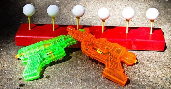 carnival games - Summer fun - knock ping pong balls off golf