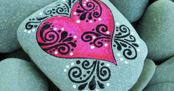 What Love Feels Like / Painted Rock / Sandi Pike Foundas /