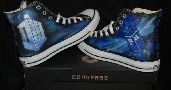 Wish | Doctor Who Converse Sneakers-Custom Converse All Star High TOP