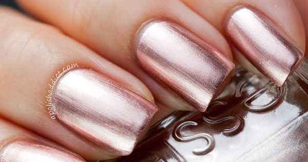beauty inspiration rose gold nails fashion shoes