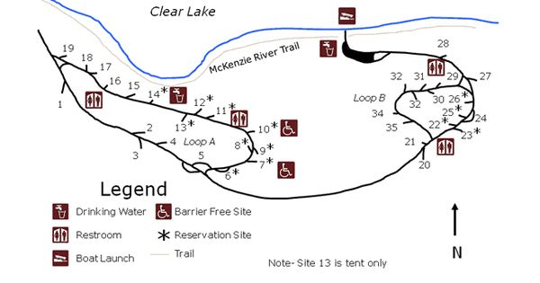 Cold Water Cove Campground Map Clear Lake Campground Lake