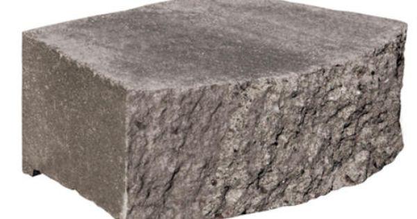 11 1 2 X 7 X 3 1 2 Crestone Ii Retaining Wall Block At Menards Quarry Gray Retaining Wall Blocks Retaining Wall Block Retaining Wall