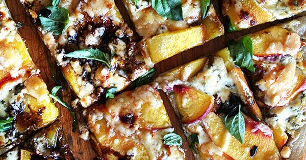nectarine pizza with basil and balsamic pizza summer recipe
