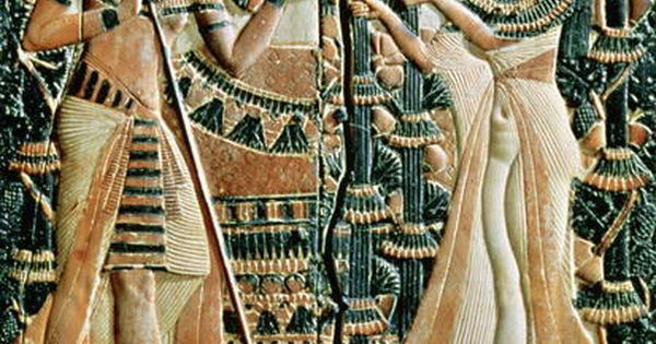 Plaque From The Lid Of A Coffer Showing Tutankhamun C