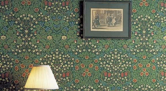 'Blackthorn' by William Morris features pretty meadow