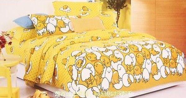 Gudetama yellow egg coral fleece blanket bed blankets pillowcase bed quilt new