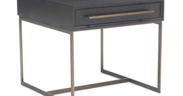 ALLURE DRAWER SIDE TABLE in Black/Brass {Mitchell Gold + Bob Williams}  가구 ...