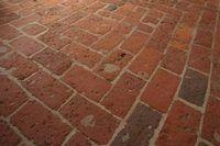 How To Refinish Interior Brick Floors Hunker Brick Flooring Brick Hearth Concrete Floors