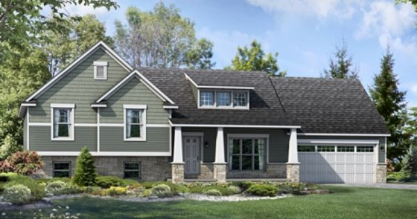 Lexington with craftsman elevation the lexington for Craftsman style split level homes