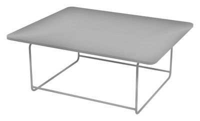 Table Basse Ellipse Fermob Gris Argent Metal Made In Design Table Basse Mobilier Table