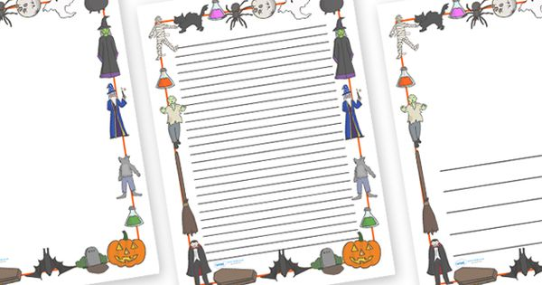 Twinkl Resources >> Halloween Page Borders >> Thousands Of