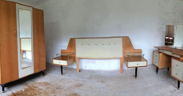Vintage 1950s g plan chinese white bedroom suite dressing for G plan bedroom furniture dressing tables