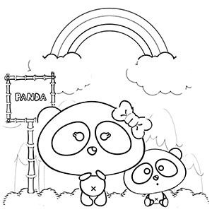 Rainbow Panda Coloring Pages Free Printables Coloring Pages For Kids