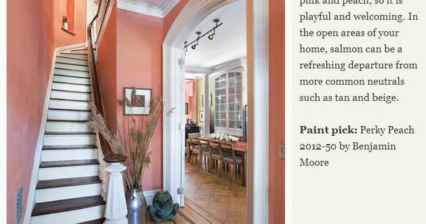 Paint Pick Perky Peach 2012 50 By Benjamin Moore