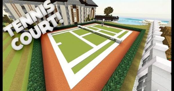 Minecraft How To Build A Tennis Court Minecraft Buildings Minecraft Minecraft Palace