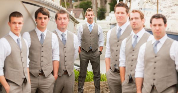 groomsmen rustic tan suits - Google Search