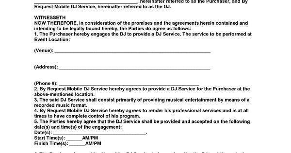By Request Mobile DJ Service Entertainment Contract - PDF - PDF