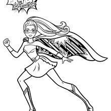 ausmalbild superhelden barbie | aglhk