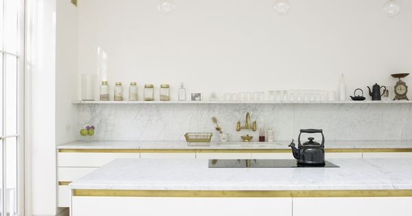 clean white lines & marble :: kitchen renovations