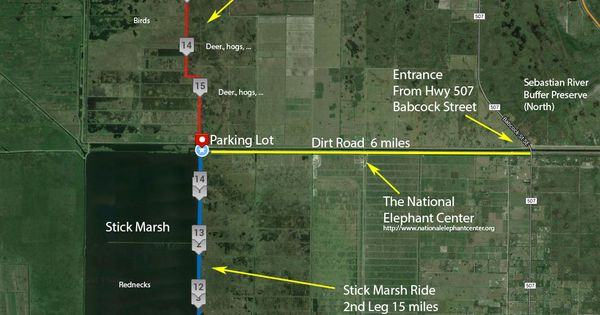Cocoa Beach Pier >> The Stick Marsh, Farm 13 - Bicycle map | Brevard & Indian River County | You are my sunshine ...