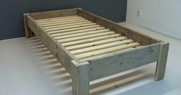 Zelf bed maken van steigerhout google zoeken steigerhout pinterest zoeken google en bedden - Volwassen slaapkamer idee ...