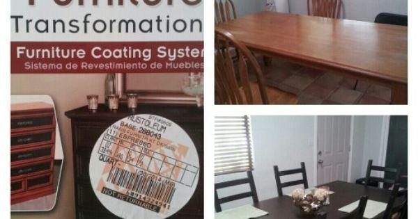 Kitchen Table Transformation Diy Rust Oleum Furniture