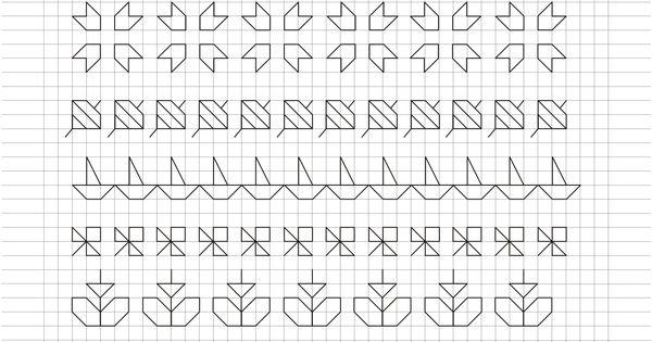 Cornicette e disegni a quadretti grafomotricitat - Cenefas para dibujar ...