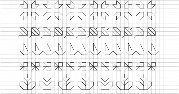 Cornicette e disegni a quadretti grafomotricitat pinterest caligraf a cuadricula y grecas - Cenefas para dibujar ...