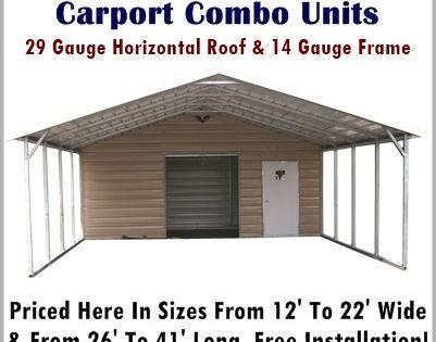 Carport Storage Combo Units Metal Carport Depot Carport With Storage Metal Carports Metal Carport Kits