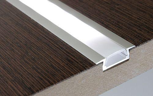 Flush Mount Aluminum Profile Housing For Led Strip Lights Klus Micro K Series Super Bright Leds Led Strip Lighting Led Floor Lights Strip Lighting