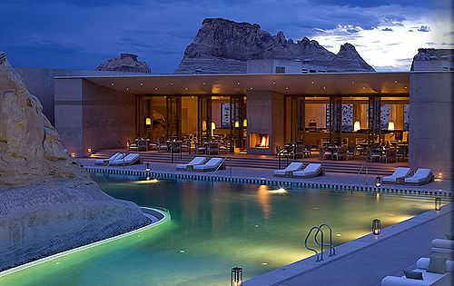 A Beautiful pool at Aman Resorts in Amangiri (peaceful mountain) Canyon Point,