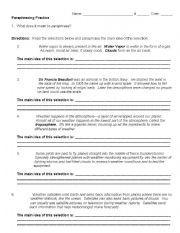 English Worksheet Paraphrasing Practice Kindergarten Math Addition Free Activitie For 5th Grade