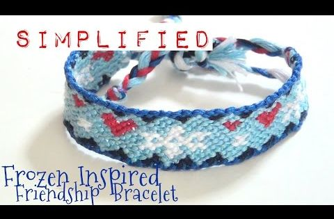Diy friendship bracelet stripes or solid