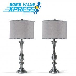 Set Of 2 Chelsea Nail Head Lamps Table Lamps For Bedroom Lamp