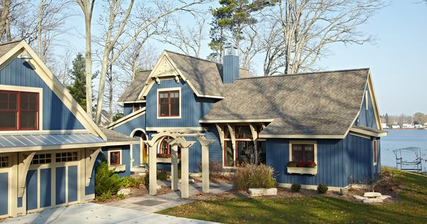 Cottage Exterior Paint Colors Lake Lake House